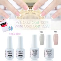 Wholesale Top Quality Manicure Set - Wholesale-Elite99 8ml White & Pink French Manicure Kit Set Top & Base Coat High Quality Easy Use Remove Soak Off Nail Polish