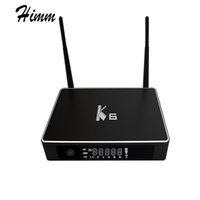 Wholesale Dual Tuner Media Player - K6 Android Tv Box 2G 16G Amlogic S812 Quad core Android 5.1.1 Smart TV Box 2.4GHz 5GHz Dual WiFi UHD 4K 3D Miracast Media Player
