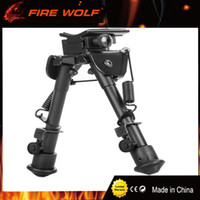 "Wholesale Mounting Studs - New 6-9"" Aluminum Black Bipod Atlas Adjustable Swivel Stud Precision Bipod Mount For Rifle Hunting Mount"
