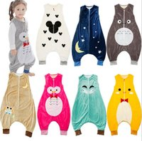 Wholesale baby sleep vest for sale - Group buy New Spring Autumn Baby Sleeping Bag Kids Pajamas Sleeping Clothes Nightclothes Children Rompers Babies Bedding Wraps Bags