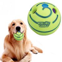 brinquedos cão sons venda por atacado-Nova Adorável Wobble Wag Giggle Dog Play Bola Brinquedos Pet Chew Play Formação com Som Engraçado Mantém Cães Feliz Todo O Dia