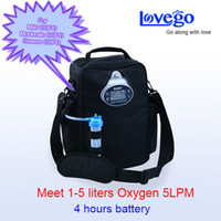 Wholesale Two batteries hours usage Lovego new portable oxygen concentrator for LPM oxygen therapy
