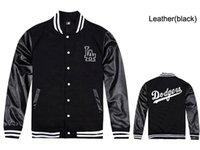 Wholesale Hiphop Leather Jackets - Free shipping LA leather jackets for men hip hop baseball sweatshirts mens coats fleece male rock hiphop clothes free shipping
