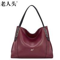 Wholesale Leather Open Bra - LAORENTOU high-quality fashion luxury brand 2017 new shoulder bag genuine leather handbag counter genuine, female well-known bra