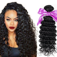 Wholesale Deepwave Hair - Sale Peruvian Deep Wave Virgin Hair 3 Bundle Deals high quality Unprocessed Deep Curly Wet and Wavy Human Hair Weave DeepWave Deep Curly