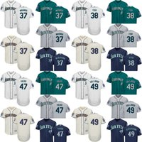 Baseball casey james - 2017 Commemorative Patch Flex Base Men s Seattle Mariners Ariel Miranda Casey Fien Yovani Gallardo James Pazos baseball jerseys