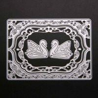 Wholesale Handmade Albums - ASLT 1 Set Swan Design Cutting Dies Stencils for DIY Scrapbooking Decorative Craft Album Embossing Handmade Metal Paper Cards