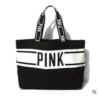 Wholesale Canvas Bag Wholesalers - Shoulder Bags Women Pink VS Messenger Bags Designer Handbags High Quality Victoria pink Women Vs Beach Bag Women Purses Handbags