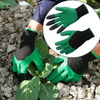Wholesale Garden Genie Gloves With Claws Retail box Latex Gardening Glove Waterproof Dig Soil Safety Protection Hands Resistant To Thorns Free DHL