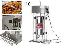 ingrosso macchina automatica di riempimento-15L Commercial Use110v 220v Elettrico automatico spagnolo Churro Maker Machine Baker Filler Extruder con 5 ugelli