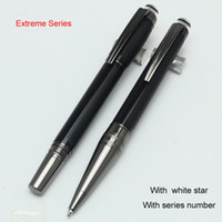 Wholesale Stainless Steel Ball Pens - Luxury Starwalk black Precious Resin PVD-plated fittings roller ball pen MB ballpoint pen office school supplies pen for writing