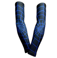 manga de manga azul Compressão Elbow Arm Sleeves baseball sleeve Bike Golf ciclismo Arm Sleeve Cover Warmers UV Sun Protection