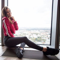 Wholesale Casual Autumn Winter Sports Hoodies - 2017 Summer Autumn & Winter Women Striped Hoodies Printed Sweatshirts Hoodie Casual Sports tracksuit Streetwear Pullovers Hoodies Harajuku