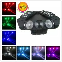 Wholesale Dmx Stage Light Bar - 8PCS lot New RGBW 9x10W LED Spider Moving head Lights LED Disco club china party dj stage bar wedding DMX Stage Lights Dj Led