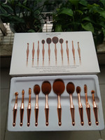 Wholesale One Makeup Kit - Hot New 10PCS Toothbrush The New Mermaid Makeup Brush Foundation Oval Brushes One Set Beauty Girl