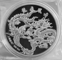 Wholesale Dragon Phoenix - 1988 Chinese 5oz zodiac Silver Coin - dragon and phoenix commemorative coins
