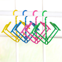 Pattini appendenti Racks 4 colori Rotary Portable Clothes Hook Shoe Ranger Hanger Wet Dry Protezione solare Plastica antivento