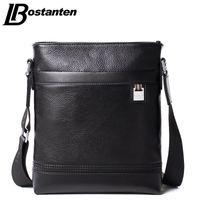Wholesale Genuine Leather Business Bags Bostanten - Wholesale- Bostanten Business Genuine Leather Men's Messenger Bags Man Portfolio Office Bag Quality Small Travel Shoulder Handbag for Man