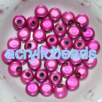 Wholesale Love Bracelet For Cheap - Cheap Colorful 10MM Acrylic Miracle Beads Plastic Round 3D illusion Spacer Balls for Jewelry Bracelets 100pcs lot