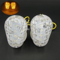 Wholesale Zx6r Led Turn - 2PCS LOT LED Flush Turn Signals for Kawasaki Ninja ZX6R 636 ZX7R ZX9R ZX10R ZX12R ZZR600 free shipping