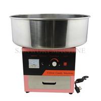 máquina de hilo de algodón de azúcar al por mayor-110V 220V Electric Cotton Candy Machine DIY Fancy Cotton Candy Maker Sugar Floss Machine