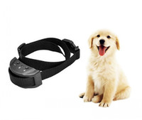 Wholesale Necklace Training For Dogs - PET853 Dog Training Collar Anti Bark Electric No Shock for Pet Automatic Remote Control Plastic Adjustable Trainer Necklace