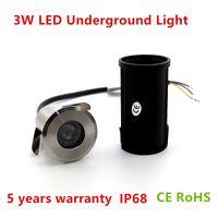 12v luces de inundación a prueba de agua ip68 al por mayor-Mejor venta de 3W CREE Chip LED impermeable IP68 al aire libre Tierra de jardín Inundación Paisaje Luz LED Lámpara subterránea 12V 85-265V