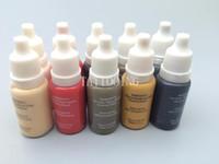encre permanente achat en gros de-5 couleurs Permanent Maquillage Micro pigments Set Biotouch Tatouage Encre Cosmétique 15 ml Kit Pour Tatouage Sourcils Lèvres Maquillage Mixte couleur
