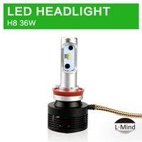 Wholesale H11 Super Bright - Mind car headlight Factory wholesale luxeon zes H11 H8 72W 12V high low beam super bright Thermal separation, waterproof grade IP68