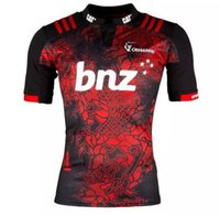 Wholesale Wine Transfer - Free shipping! Rugby League New Zealand Super Rugby Union Crusaders High-temperature heat transfer printing jersey Rugby Shirts