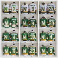 minnesota north stars jerseys achat en gros de-Maillots de hockey Stars North Dallas du CCM Minnesota 1 Gump Worsley 9 Mike Modano 20 Maillot Dino Ciccarelli 11 JP PARISE 4 Maillot Craig Hartsburg