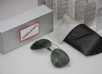 Wholesale eyewear aviator - Luxury Brand Polarized Sunglasses Men Women Pilot Sunglasses UV400 Eyewear Aviator Glasses Driver Metal Frame Polaroid Lens