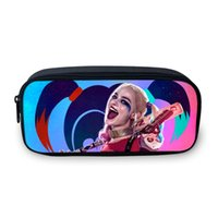 Wholesale- 2017 New Design Suicide Squad Cartoon sacs cosmétiques pour les filles adolescentes 3D Image Make Up Bag For Women Fans Best Gifts