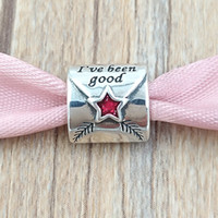 Wholesale silver letter bead pandora for sale - Group buy Christmas Sterling Silver Beads Letter To Father Christmas Charm Fits European Pandora Style Jewelry Bracelets Necklace EN58