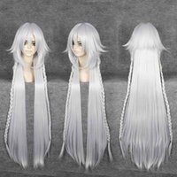The Abyss Silver White Long 100cm Wavy Anime Cosplay Party Wig Full Wig