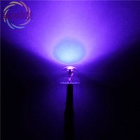 Atacado- 20 X 5mm 12V DC 20 centímetros Pre-Wired Resistor Straw Hat Astigmia Purple / UV LED Ultra Lâmpada Brilhante Emitindo Diodos DIY HOT SALE