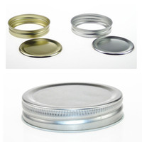 Wholesale Gold and Silver mm Ball Mason Canning Jar Mouth Pint Jars Lids Bands