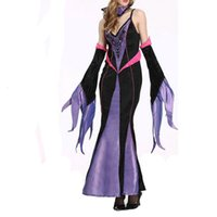 Wholesale Sexy Lingerie Halloween Party Cosplay - Gold Hands Hallowen Costumes Queen Cosplay Party Dress Up Women Stage Wear With The Queen's Hat and Oversleeve Women Sexy Lingerie Dress