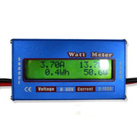 Wholesale Single Phase Watt - Digital LCD Watt Meter For DC 60V 100A Balance Voltage RC Battery Power Analyzer 10pcs lot Free Shipping