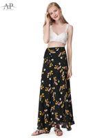 Wholesale High Waist Pans - 2017 Women Summer Boho New Floral Printed Skirts Alisa Pan High Waist Pleated Ankle Length Skirt Casual Holiday Skirt AS01041BK