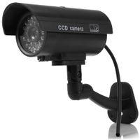 Wholesale Long Range Led Cameras - Small Dummy Camera CCTV Sticker Surveillance Camera CCTV Camera 90 Degree Rotating with Flashing Red LED Light Outdoor Indoor Hot +B