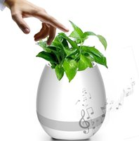 Wireless Bluetooth Smart Touch Música Flower Pots Flowerpot Speaker Intelligent Plant Piano Music Playing with LED Light