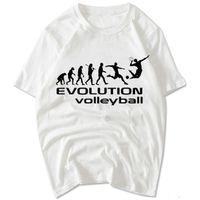 Wholesale Unique Design Clothes - Evolution volleyball T shirt Unique design short sleeve gown Nice sport tees Leisure unisex clothing Quality cotton Tshirt