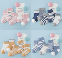 Wholesale 4t Boys Socks - 10 colors baby kids socks new arrivals Girls BOY 100% cotton stripped sock children's comfortable good quality socks size 2-4T