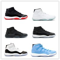 Wholesale Elastic Shoes - 2017 retro 11 XI Basketball Shoes men women Space Jam 11s Bred Legend Blue Discount 72-10 Gym Red Sports Shoes Leather Running Shoe With Box