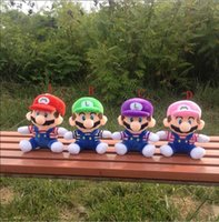 Wholesale Super Marie - 4Colors 20CM Super Mario Bros Plush Toys Marie Luigi Soft Stuffed Dolls Children Gifts Carton Toys epacket