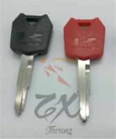Wholesale Zrx Kawasaki - 6pcs Motorcycle key for Kawasaki Ninja Kawasaki Ninja ZX ZZR ZXR ZRX Z1000 Z750 Z750S ER6N ER6F ER6R KLE650