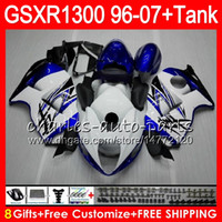 Wholesale black white fairings resale online - white black Gifts Colors For SUZUKI Hayabusa GSXR1300 HM34 GSXR GSX R1300 GSXR Fairing