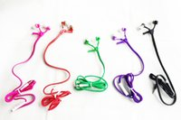Wholesale Wholesale Cell I Phones - 2017 High quality 3.5mm in-ear Stereo Universal Zipper Earphones Headset headphone With Remote Mic for i 6 Samsung s6 HTC LG Cell Phone