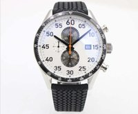 Wholesale Low Price Chronograph Watches - Low Price Luxruy Brand Tag Quartz Watch Men Caliber 17 White Big Dial Stainless Band Chronograph fashion dress casual Watch Montre Homme